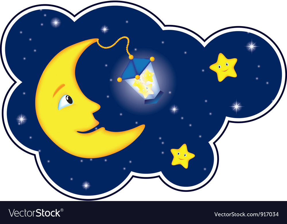 Moon flash round vector