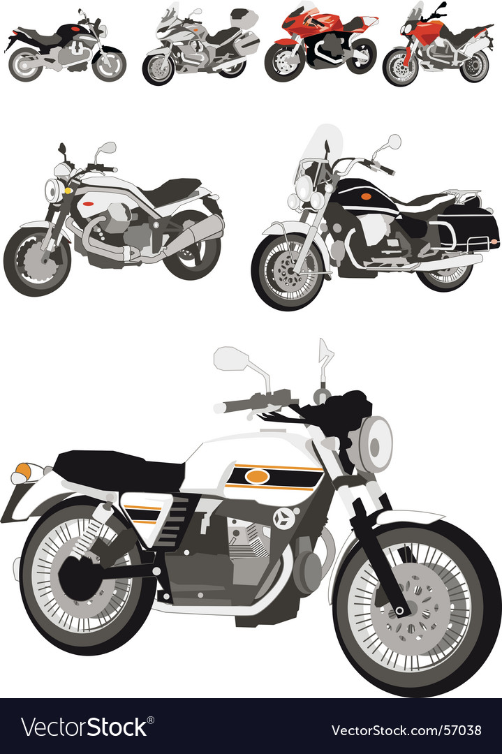Italian motorcycles vector