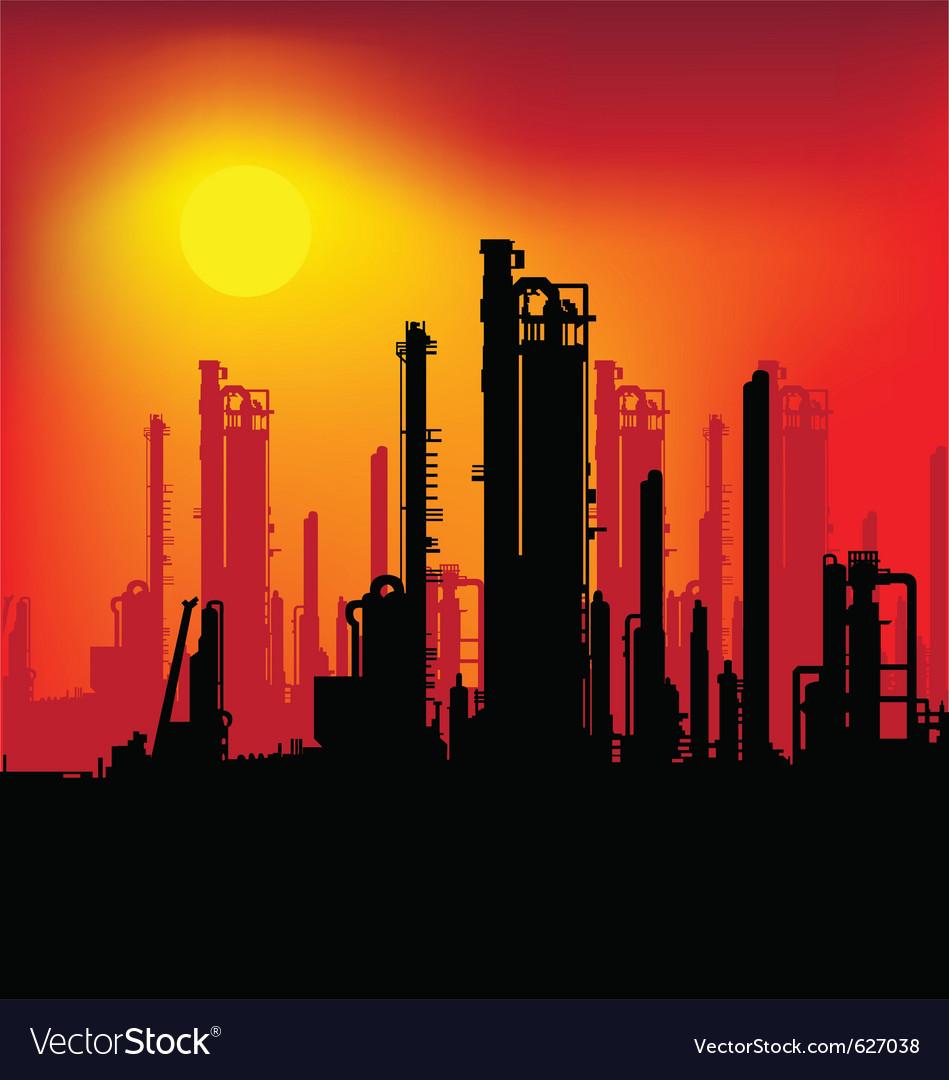 Refinery plant vector