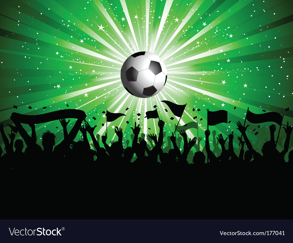 Football crowd vector