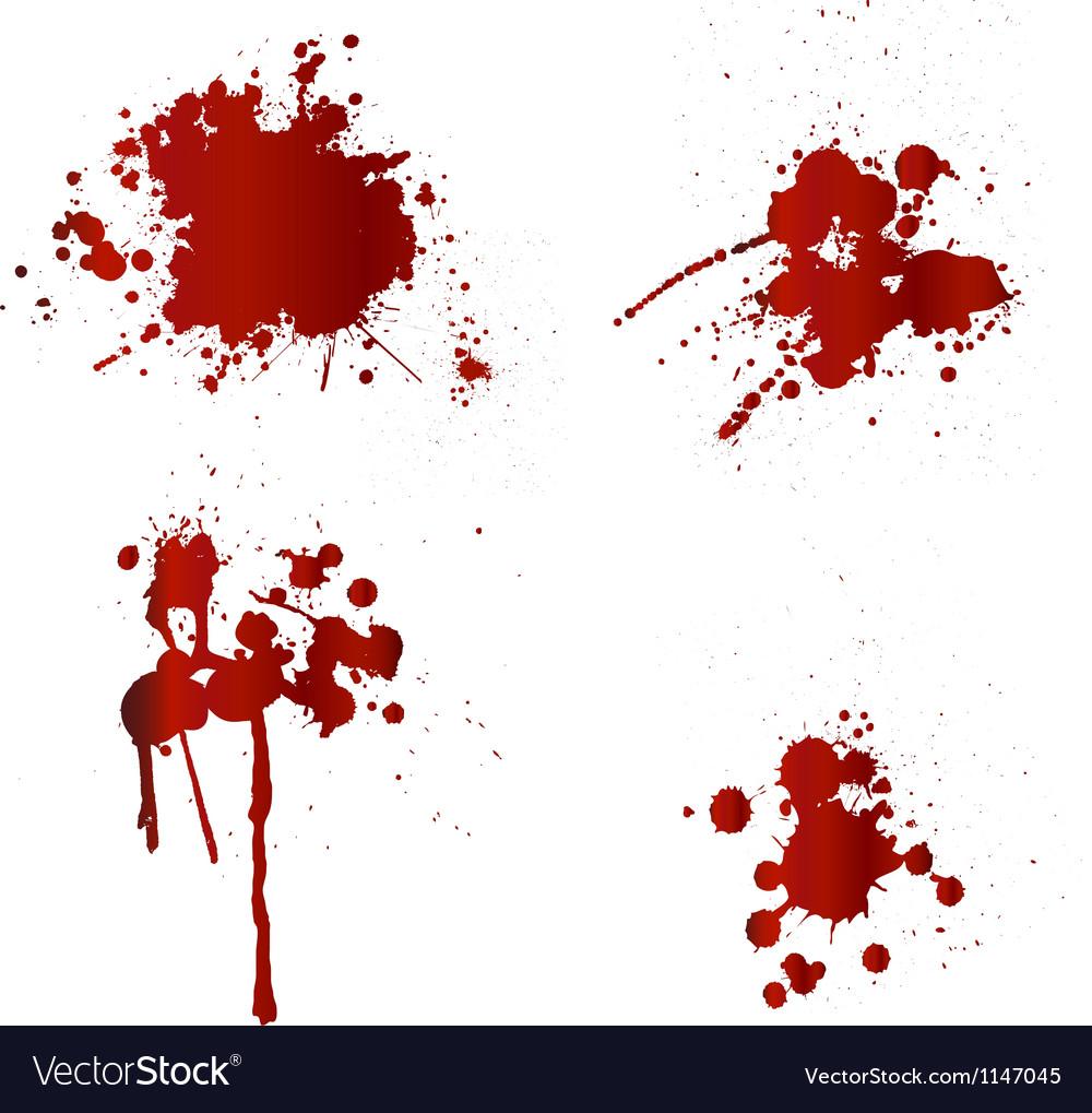 Blood splatters vector