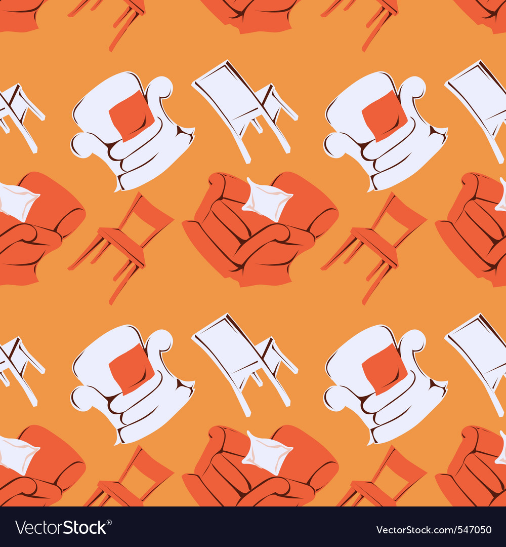Furniture pattern vector