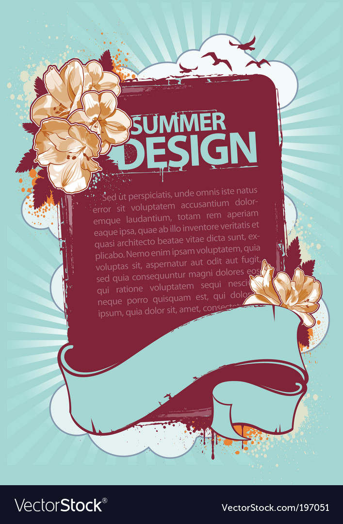 Grunge summer vector