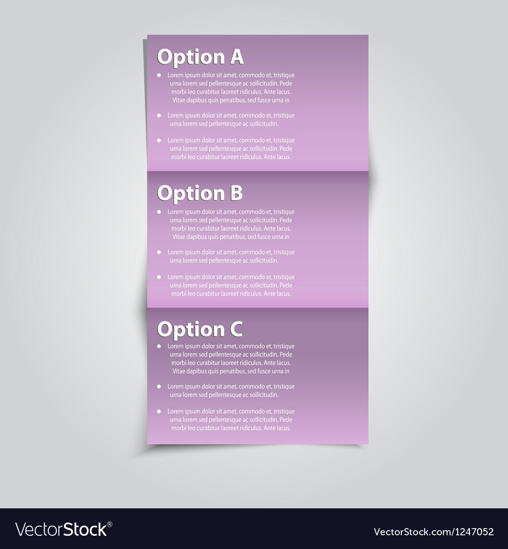 Option banner vector