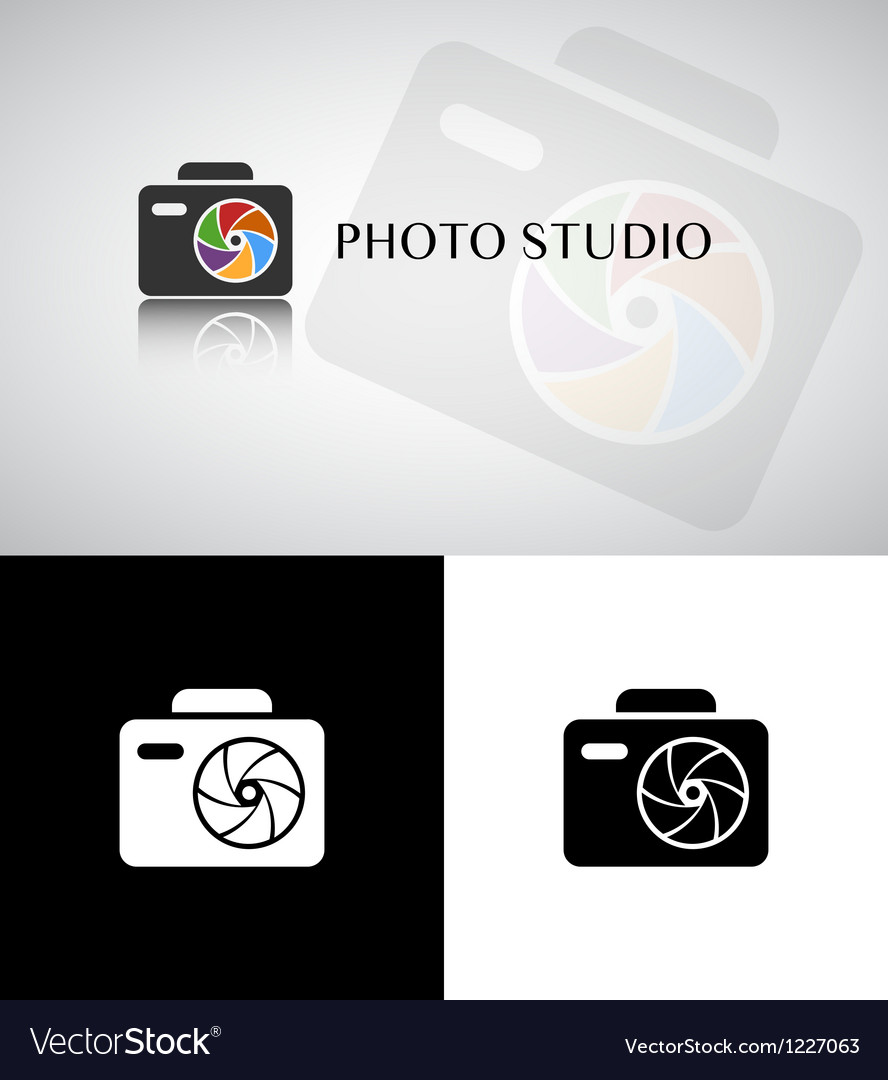 Photo studio logo vector