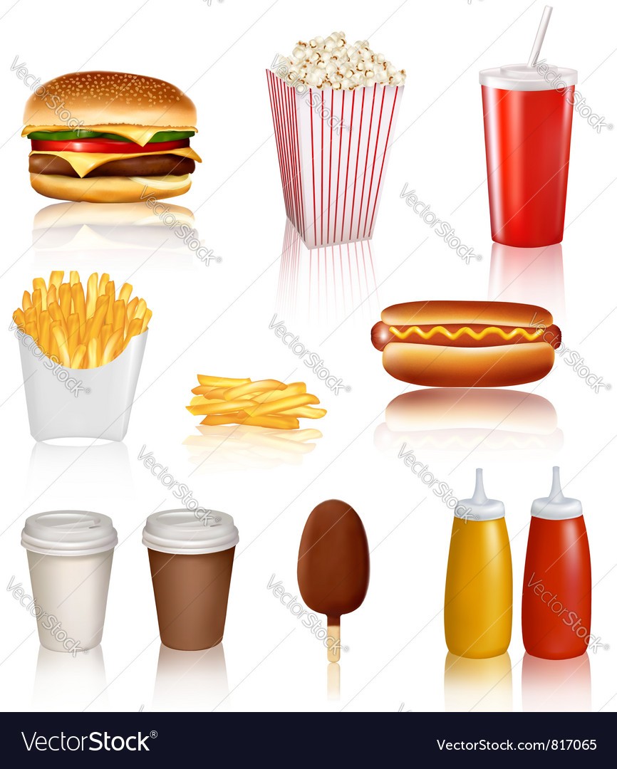 Mega set of fastfood vector