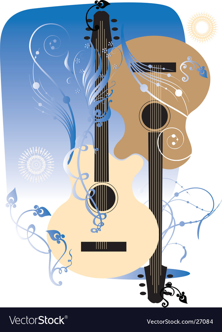 Free two guitars vector