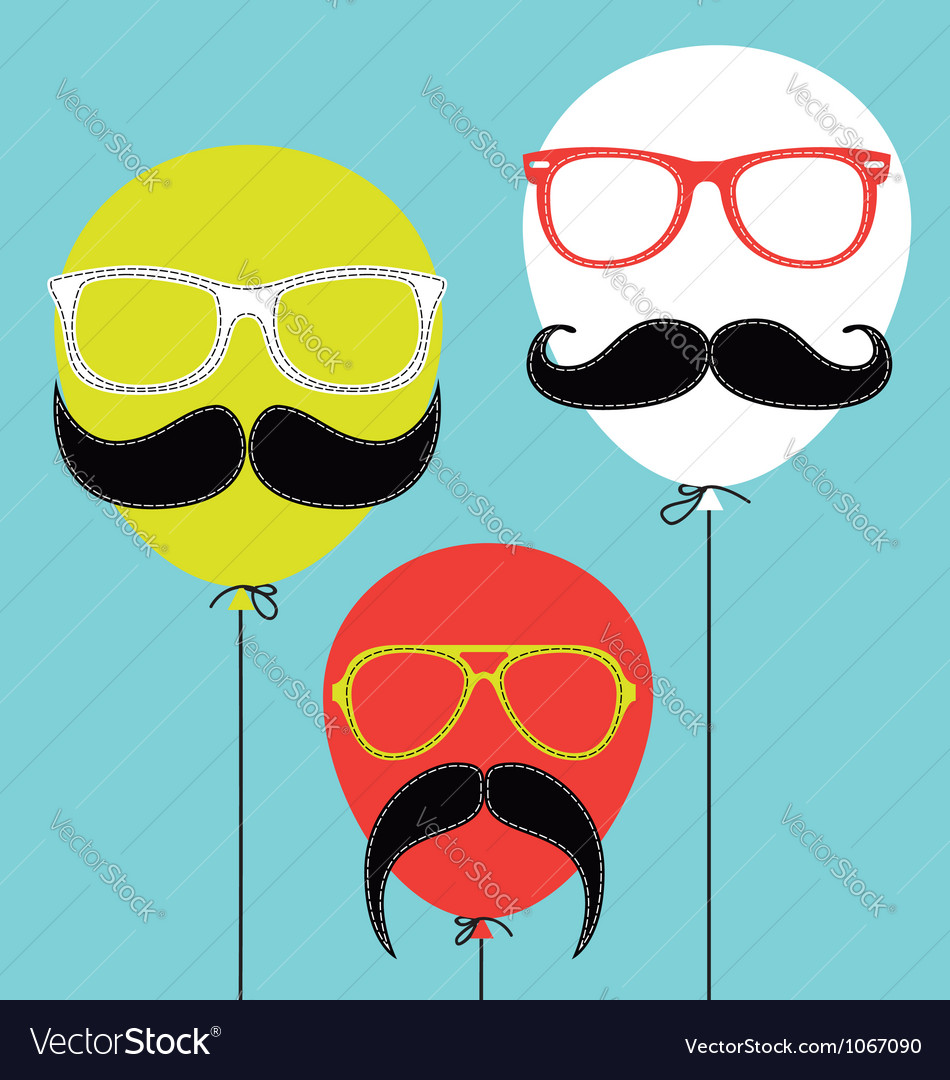 Hipster balloons vector