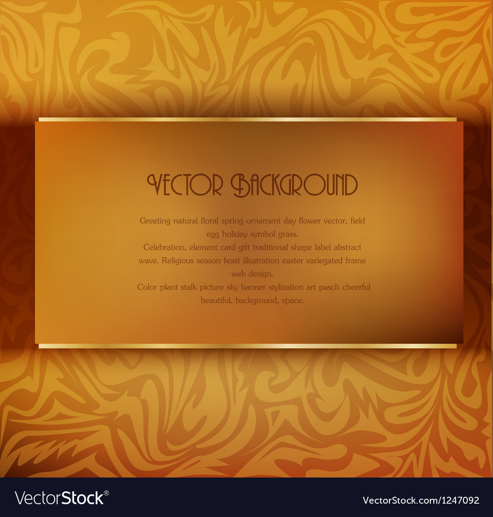 Vintage background vector