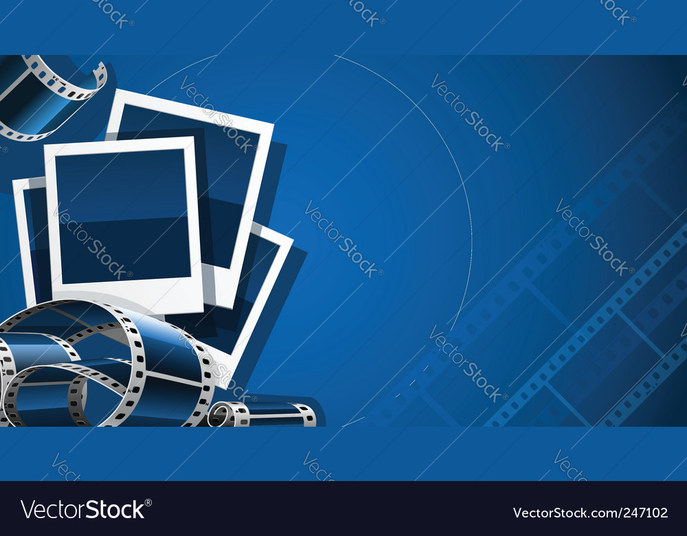 Photo film vector