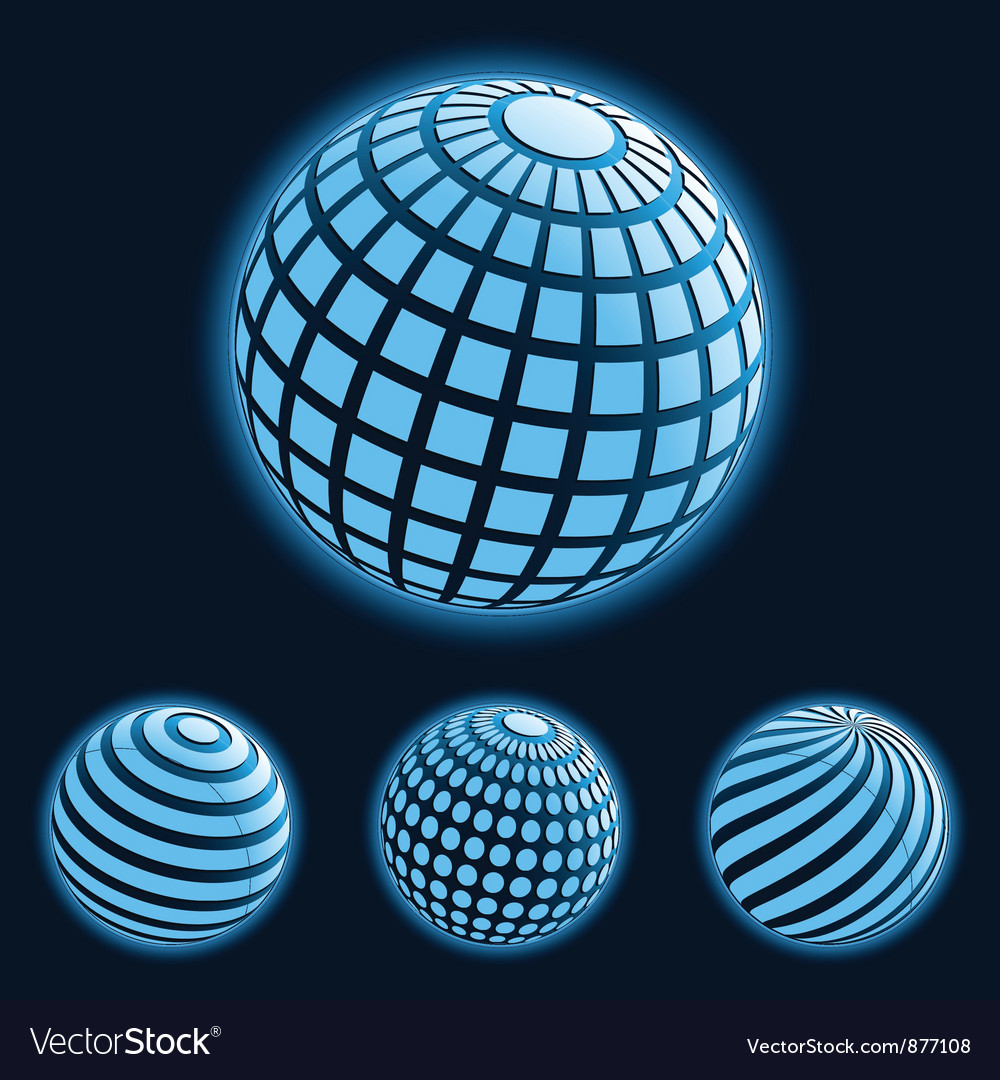 Global business icons vector