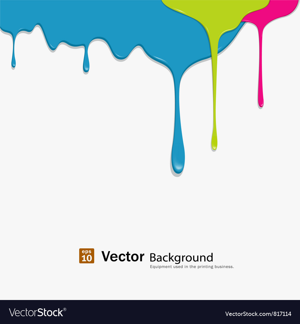 Dropping colorful background vector