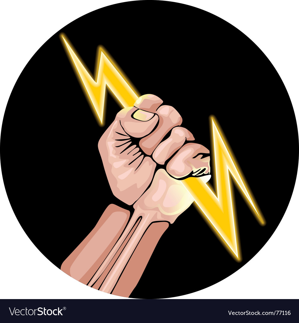 Lightning in the hand vector