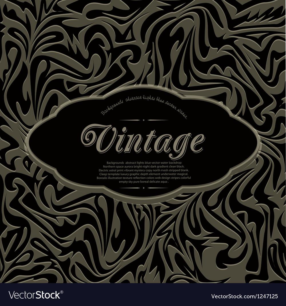 Dark vintage abstract background vector