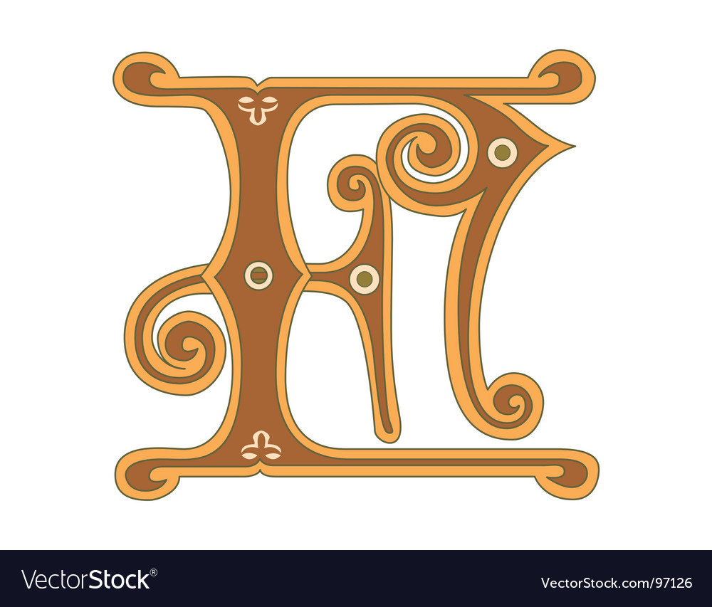 Golden letter f vector
