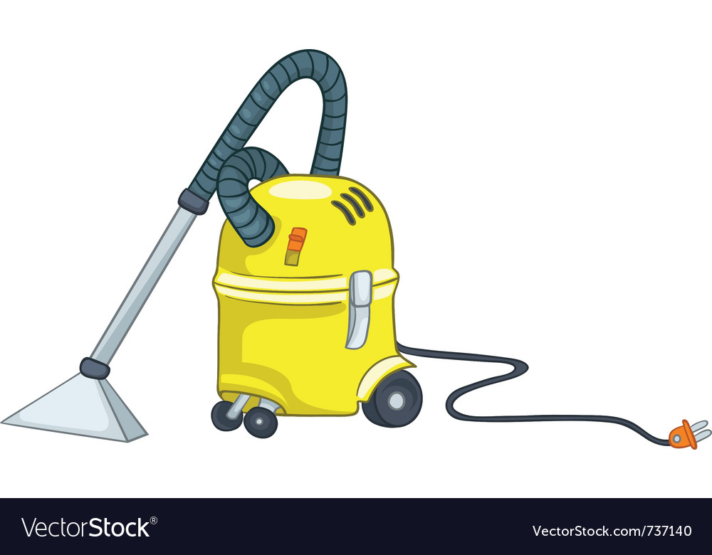 Cartoon appliences vacuum vector
