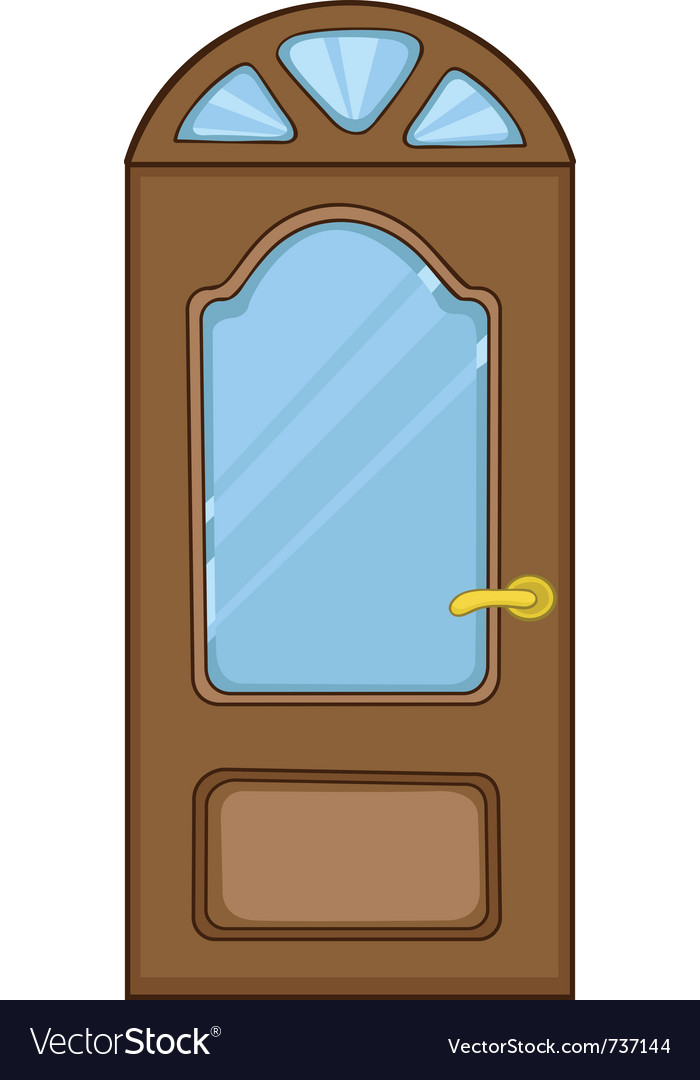 Cartoon home door vector