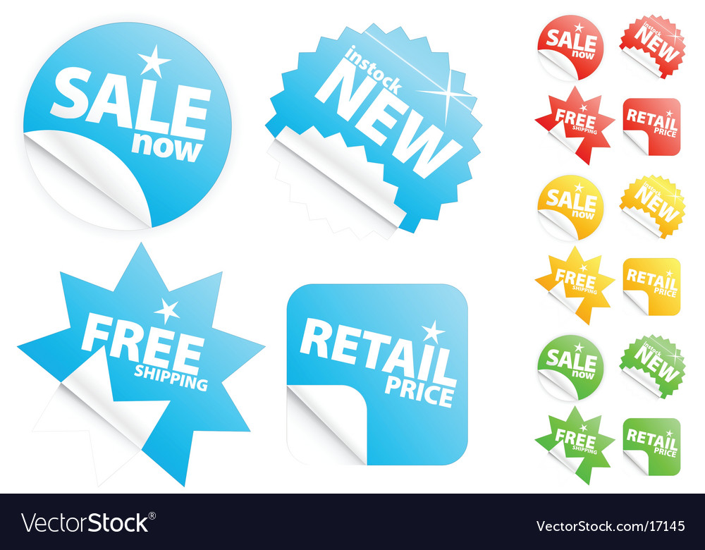 Retail stickers vector
