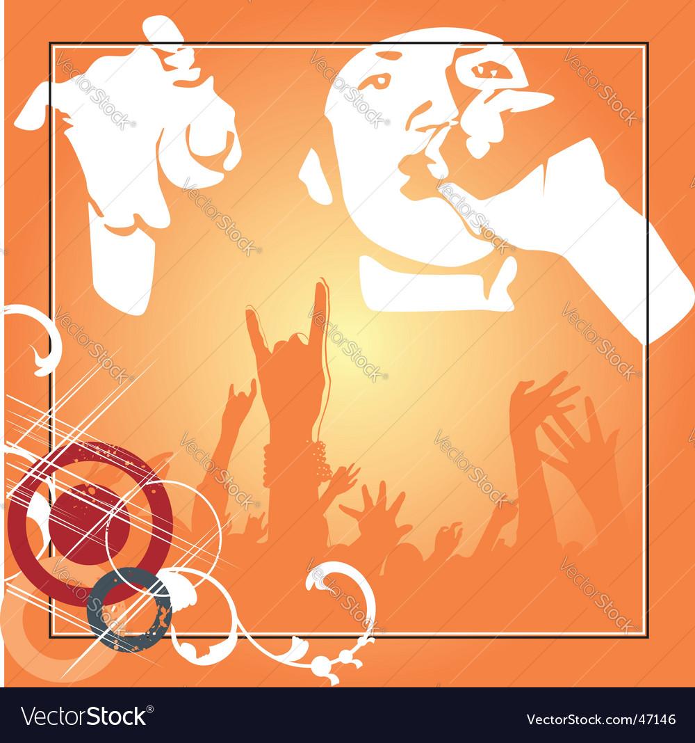 Hip hop poster vector