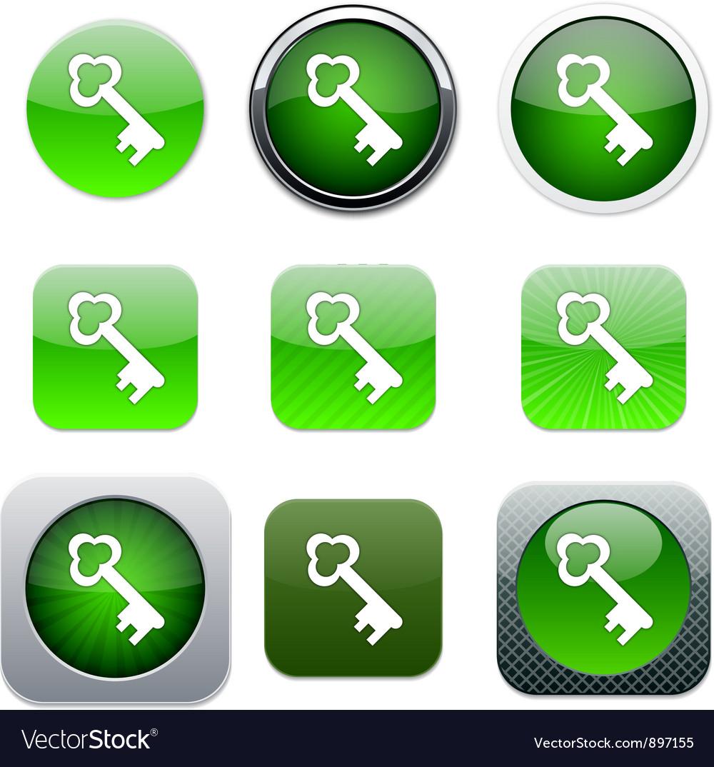Key green app icons vector