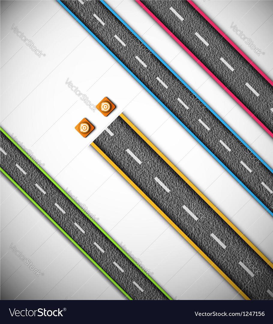 Road repair vector