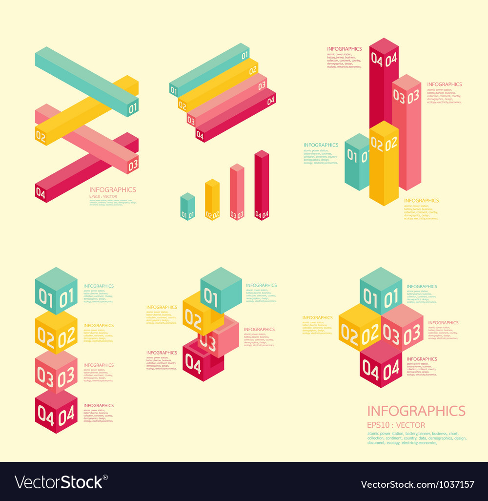 Modern soft color graph design vector