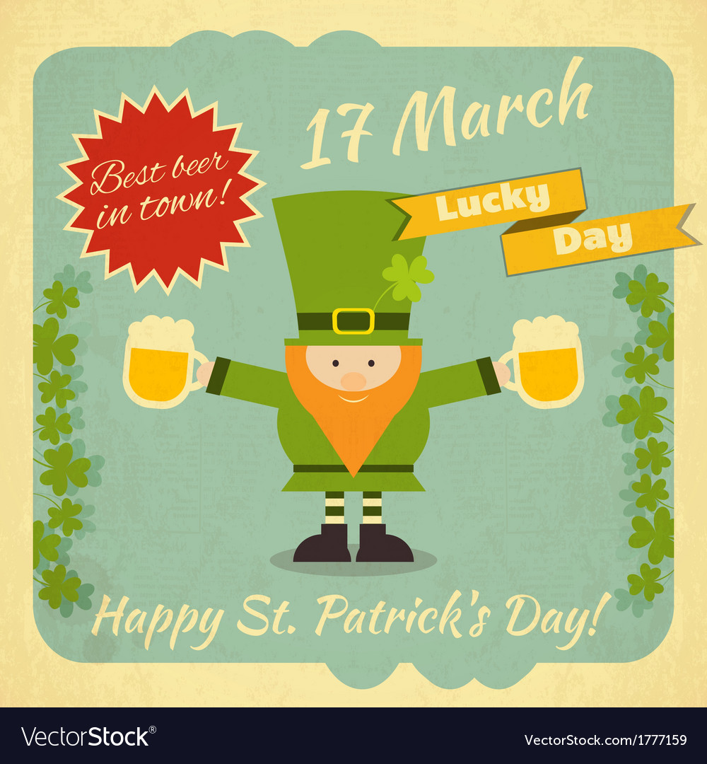 St patricks day card vector