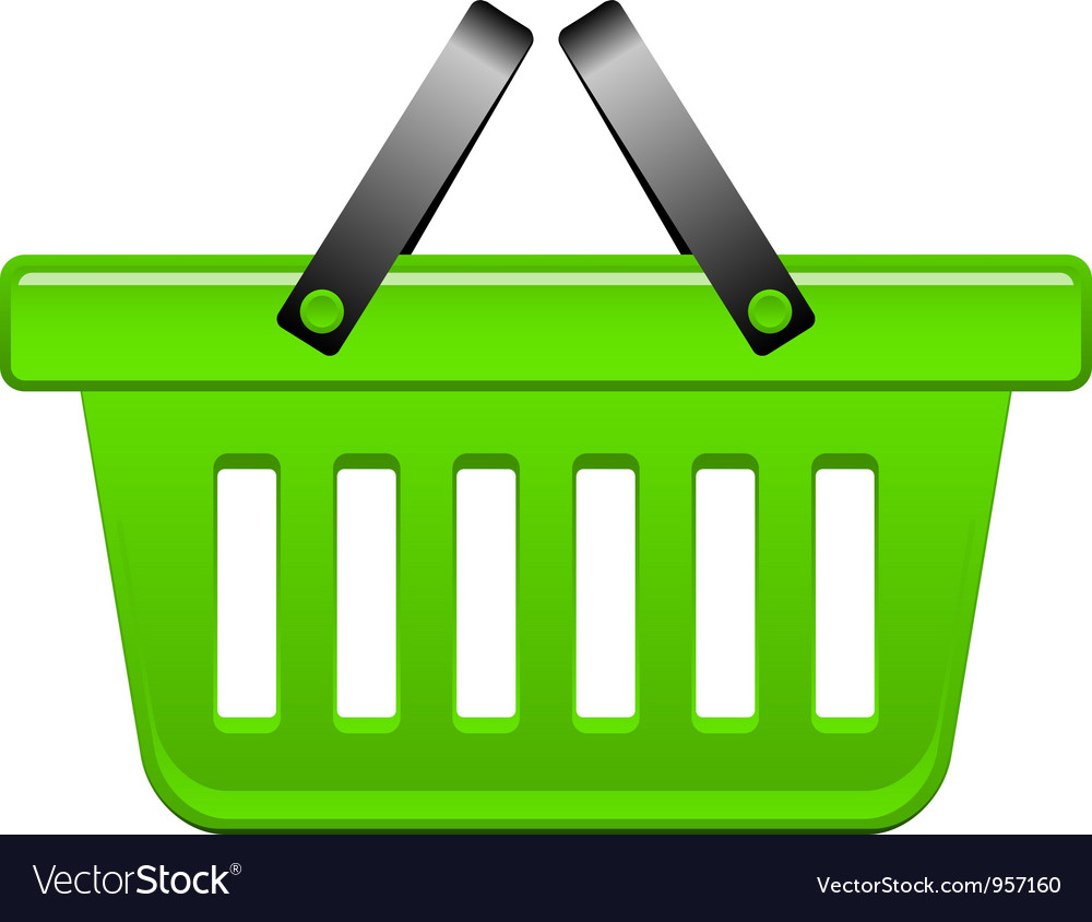 Green basket vector