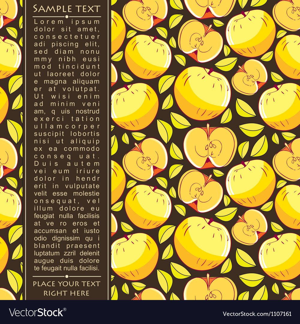 Card with apples vector