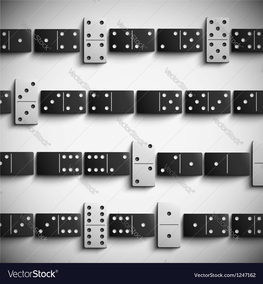 Domino background vector