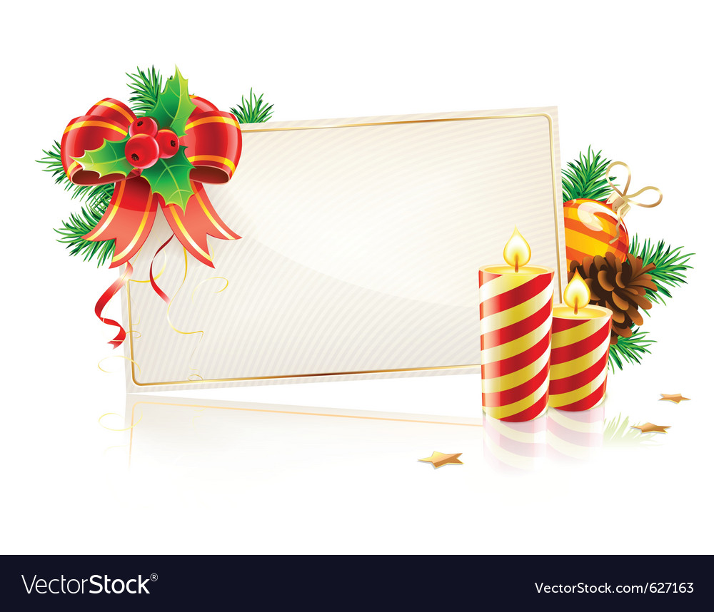 Christmas decorative frame vector