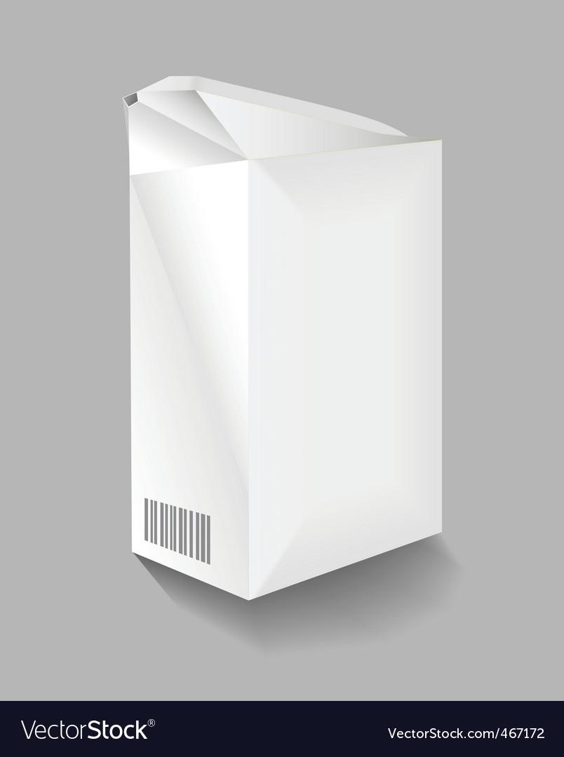 Cardboard carton vector
