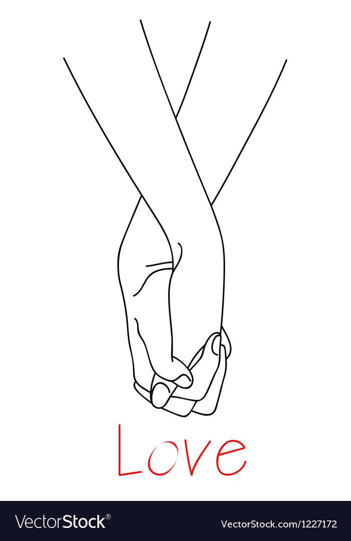 Hands of falling in love vector