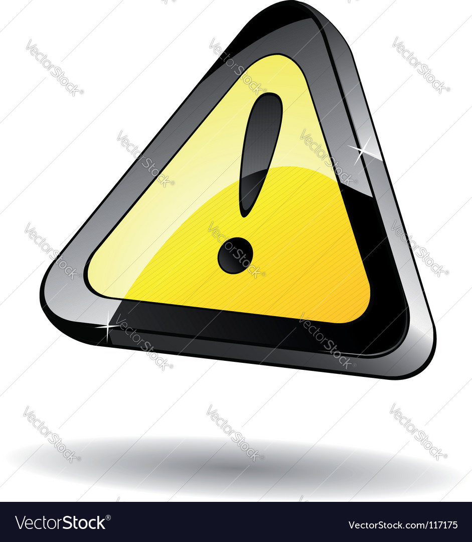 Attention icon vector