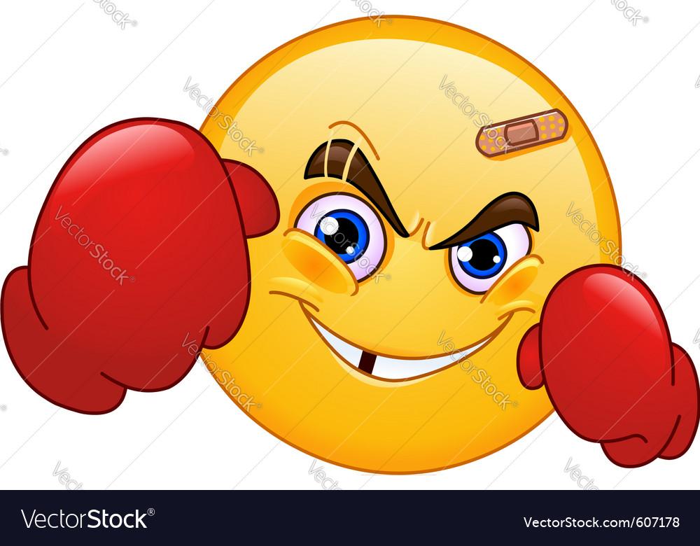 Boxer emoticon vector