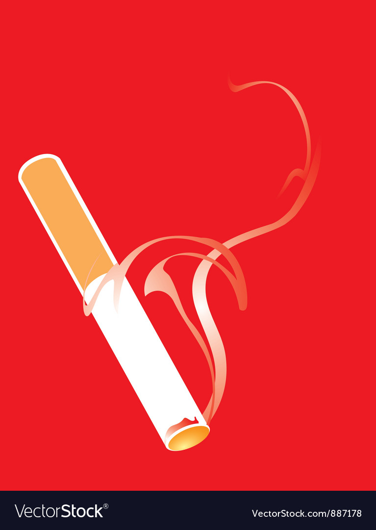 Cigarette smoking vector