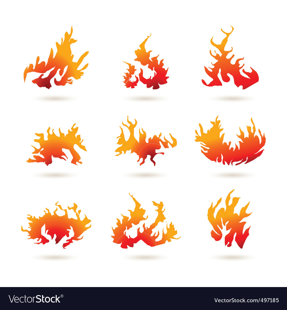Fire shapes vector