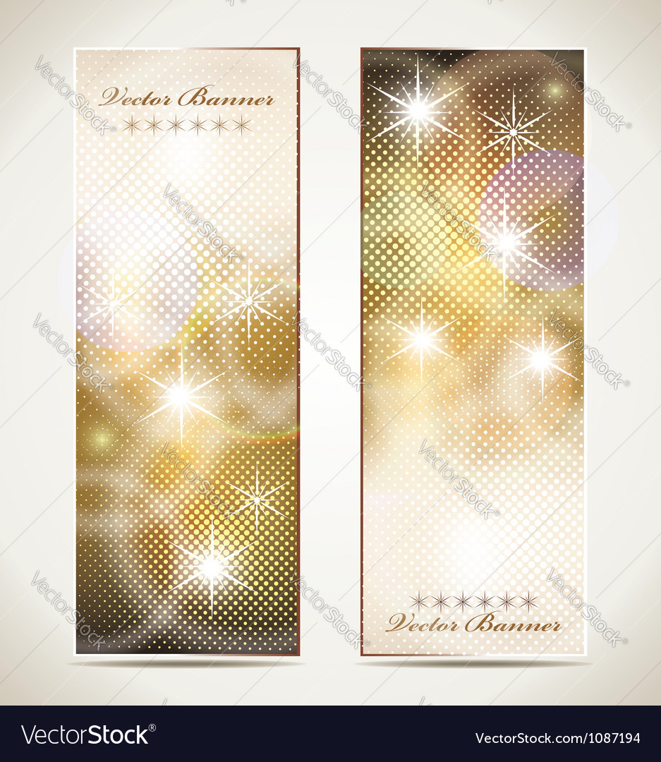 Greeting cards with stars and copy space vector