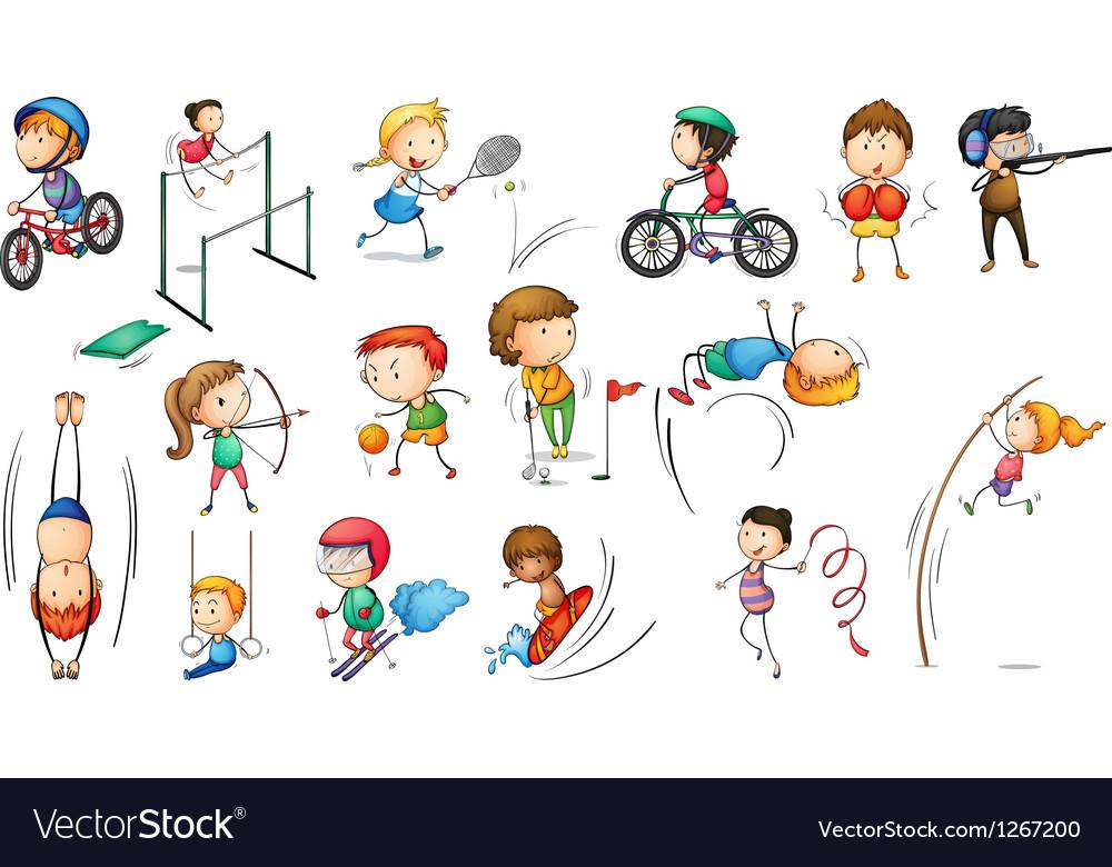 Different sports activities vector