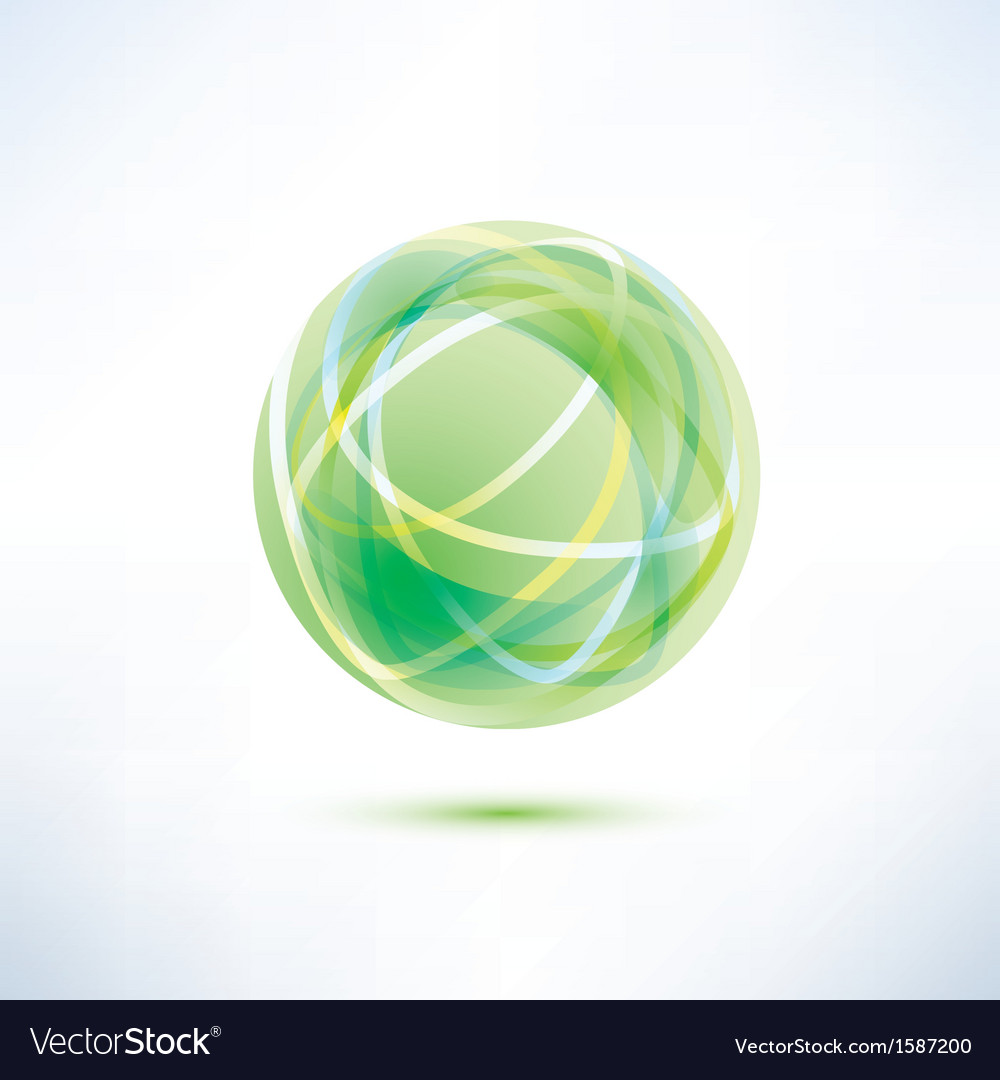 Green glass ball vector