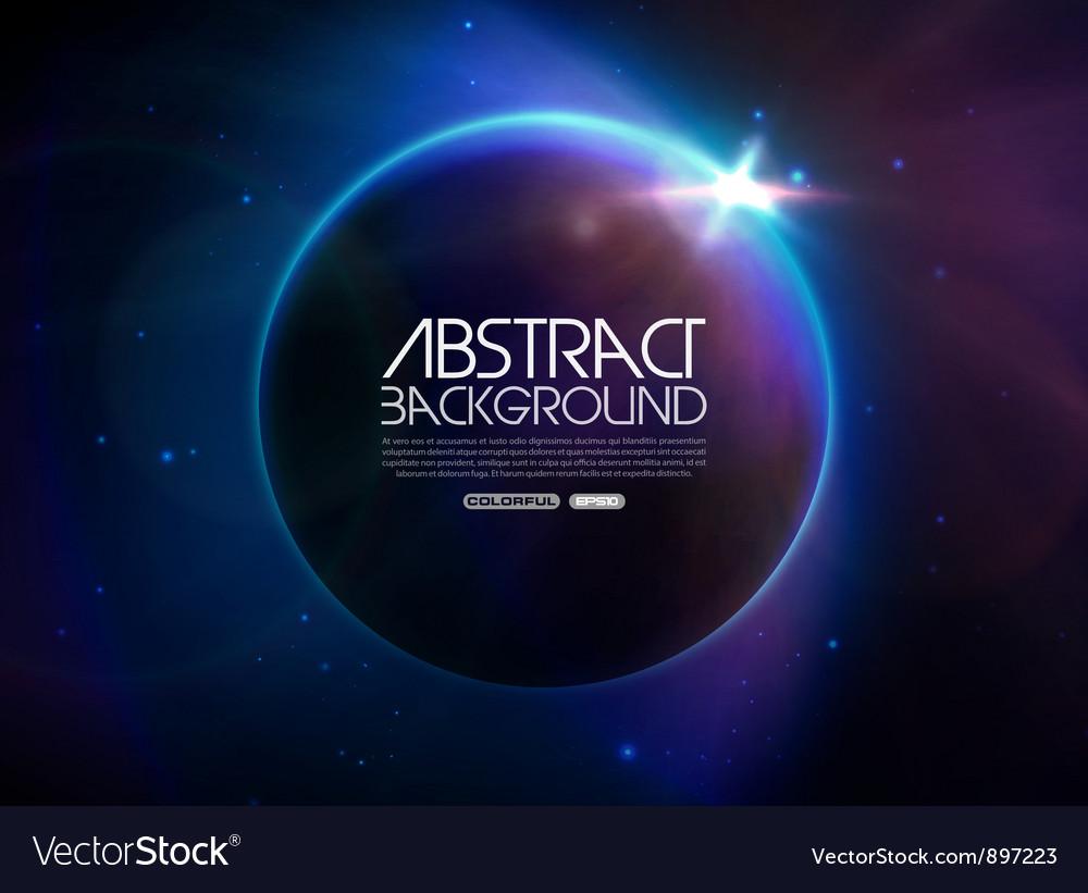 Globe in space vector