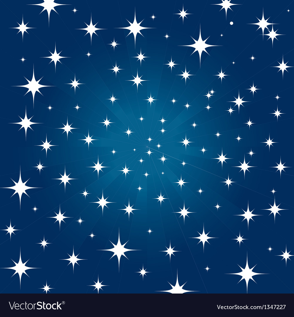 Beautiful night star vector