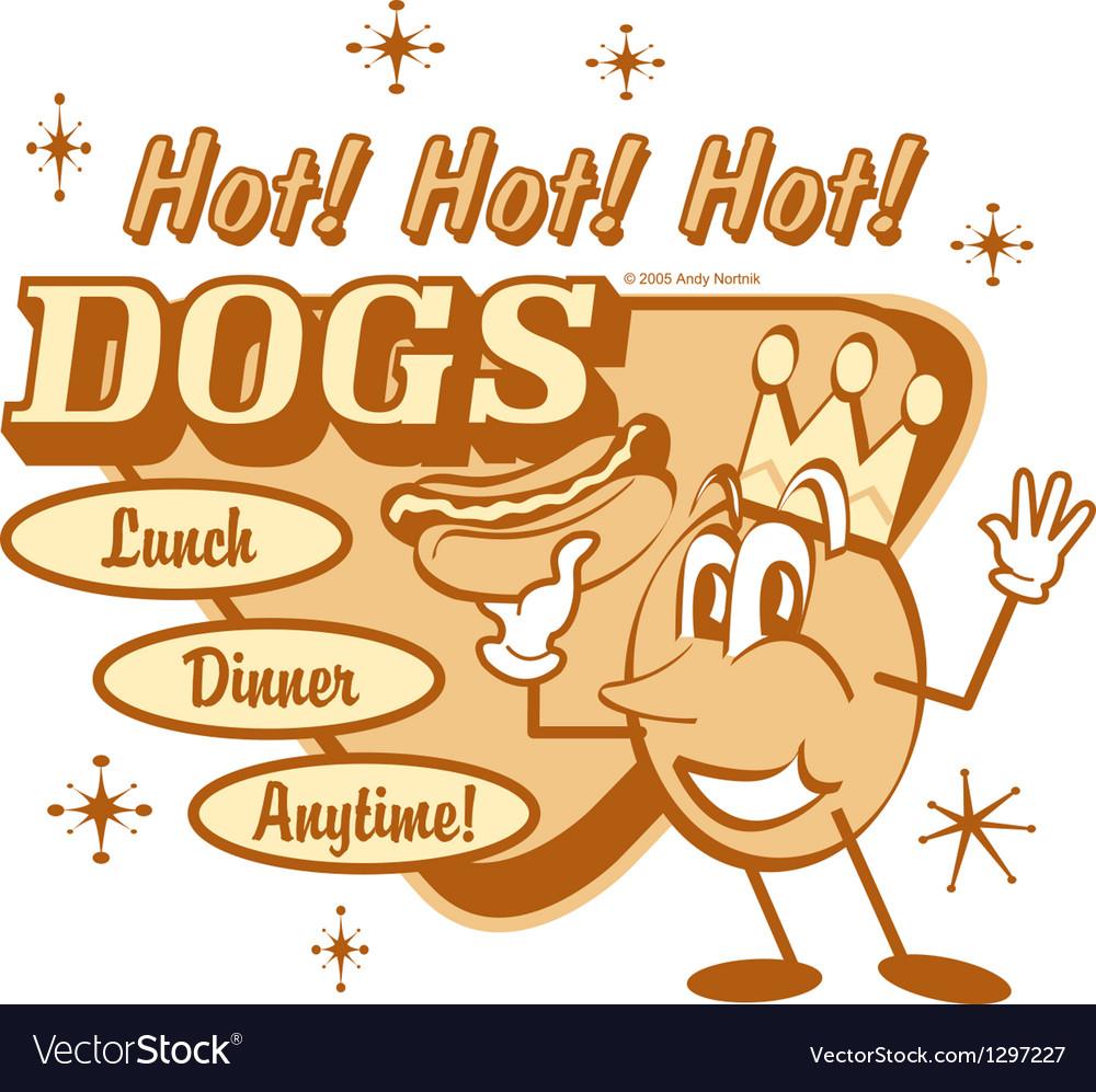 Hotdogs vector