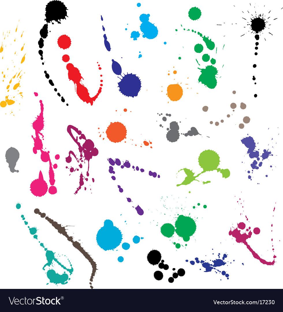 Ink splatter vector