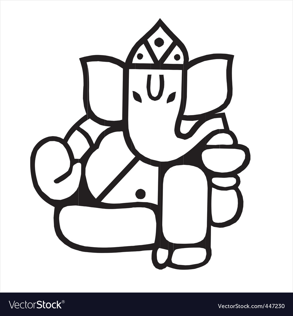 Lord ganesh vector