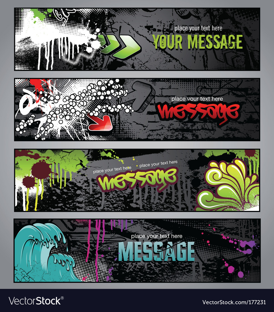 Graffiti banners vector