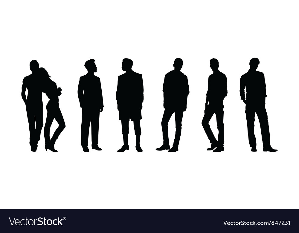 Men and woman vector