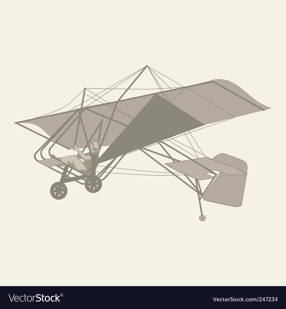 Microlight glider vector