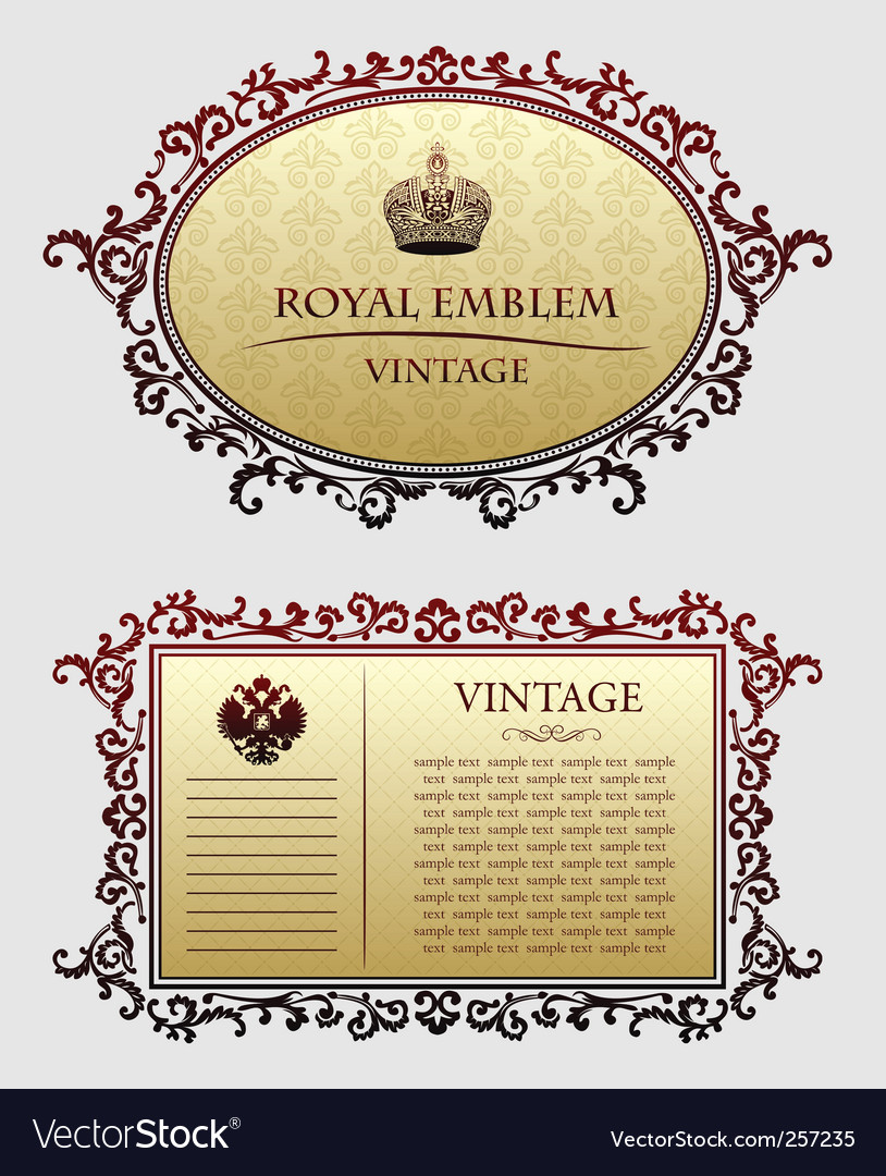 Vintagedecorative frames vector