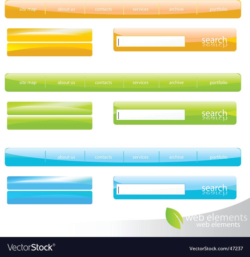Web navigation details vector